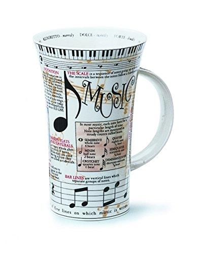 Théorie de la musique en porcelaine fine Tasse à latte BNIB