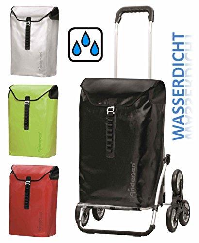 Andersen Treppensteiger Royal Shopper Ortlieb wasserdicht Alu Einkaufs-Trolley (Schwarz)
