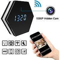 Wi-Fi Cámara espía oculta inalámbrica Reloj despertador, Bysameyee HD 1080P Grabadora de video