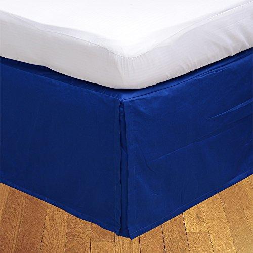 Ägyptischer Baumwolle Bettwäsche 500Thread Count 1pc Bedskirt 53,3cm Drop Länge UK Super King Royal Blue Solid 100% Baumwolle 500TC (21-zoll-king Bedskirt)