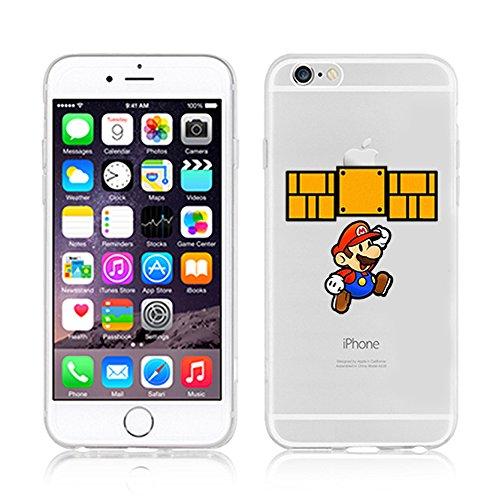 Handyschutz Disney Cartoon und Superheld, weicher Kunststoff, transparent, für Apple iPhone 5/5S/ 6/ 6Plus, plastik, SNOOPY, Apple iPhone 5/5S MARIO2