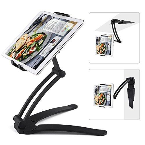 ACTOPP Küche Tablet Halterung Tablet Tischständer 2 in 1 Wandhalterung Küche Halterung Tisch Ständer Wand Halter für Handy iPhone iPad Tablet und mehr 7 bis 9,7 Zoll Gerät