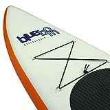 Blueborn ProGlider 11 SUP 332x77x14 cm Stand Up Paddle Board mit Pumpe und Packsack, TÜV zertifizierte Sicherheit dank Doppelkammer-System, Surfbaord Wave board Wellenreiter