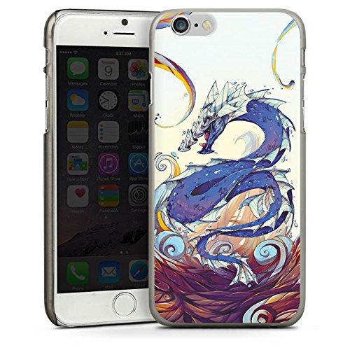 Apple iPhone 5s Housse étui coque protection Dragon Eau Water CasDur anthracite clair