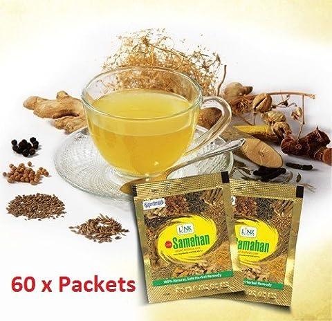 Samahan Herbal ayurveda thé naturel de plantes ayurvédiques préparation sûre et efficace pour le soulagement des symptômes liées au froid et froid 4g x 100 paquet [ Sachets ]