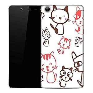 Snoogg Kitties cute Designer Protective Back Case Cover For Micromax Canvas Selfie Q348