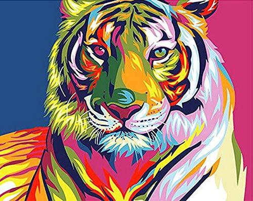 Puzzle 3D Puzzle 1000 Piezas Colorido Tigre Animal Extracto Diy Moderno Arte De La Pared Regalo Único Decoración Para El Hogar