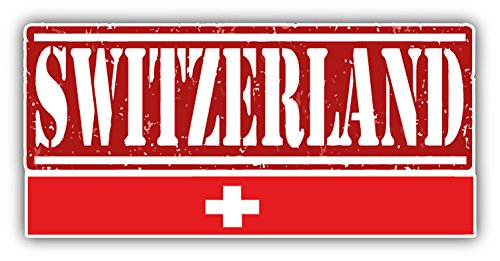 Price comparison product image Switzerland Grunge Travel Stamp Car Bumper Sticker Decal 15 x 8 cm