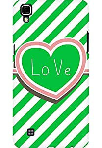 AMEZ designer printed 3d premium high quality back case cover printed hard case cover for LG X Power (Stripped Heart Love Green)