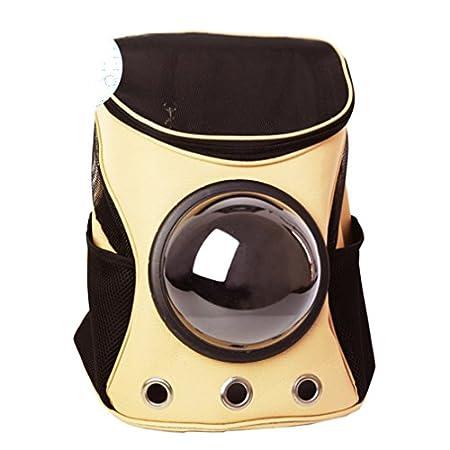 GWELL Hund Katze Rucksack mit Fenster Oxford Transportbox Raumkapsel für Reise Transport von Haustier