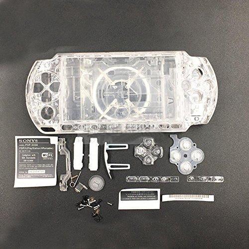 Schutzhülle mit Tasten Kit Set für Sony PSP3000PSP 30003001300230033004Serie Ersatz, Transparent ()