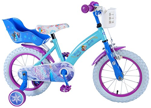 14 Zoll Mädchenfahrrad Kinderfahrrad Fahrrad Frozen Disney Eiskönigin Bike Rad VOLARE