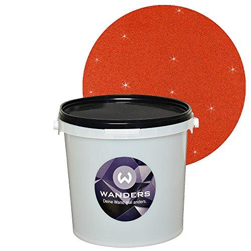 Wanders Glimmer-Optik Rost-Rot Wand-Farbe Glitzer-Effekt ...