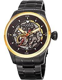 Akribos XXIV Men's Quartz Stainless Steel Casual Watch, Color Black (Model: AK970BKG)