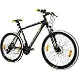 Galano 27,5 Zoll 650B MTB Toxic Mountainbike Scheibenbremsen Shimano (schwarz/grün, 46 cm)
