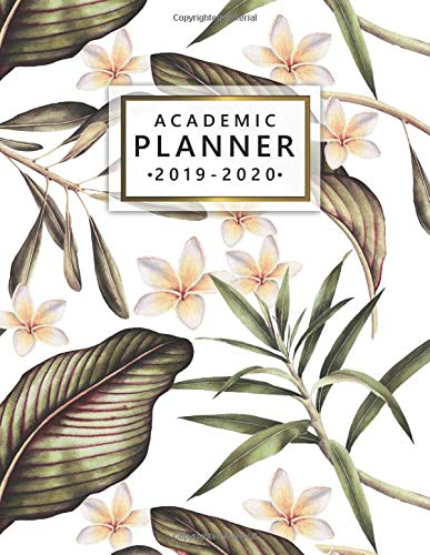 Academic Planner 2019-2020: Weekly Monthly Academic Planner Calendar Organizer with At A Glance Vision Boards, Course Schedule, To-do's, Notes,  Inspirational Quotes - Trendy Exotic Floral Print