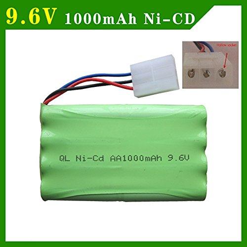 Generic Yellow : 9.6V 1000mAh Ni-CD Battery For MZ 2050 2054 2060 2053 2020 RC car 3PIN Hollow Socket