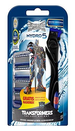 Wilkinson Sword Hydro 5 Vorteilspack Transformers Edition mit 4 Klingen + Rasierer gratis
