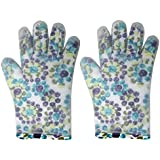 Lifestyle-You™ Heat Resistant Insulated & Textured Non-Slip Silicone Hand Gloves with Five Fingers (2 Pcs) - For BBQ Grills, Ovens, Kitchen Accessory, Baking Tool.