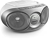 Philips AZ215S CD-Soundmachine (Digital UKW, Audio-In, 3 Watt, easy handling) - silver