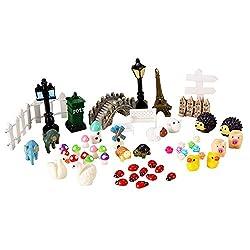 SoAmazing 56 Pcs Fairy Garden Miniature Ornaments- DIY Garden Dollhouse Decoration Accessories Kit