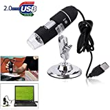 Famous Quality® 1000x USB Digital Microscope Portable 1000x 8-LED Mini Microscope Endoscope Camera Magnifier with Stand