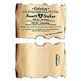 50 x Lasergeschnittene Hochzeitseinladungen Einladungskarten Hochzeit - Vintage Flaschenpost