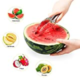 #4: Kihika Watermelon Slicer No Mess, No Stress, Neat & Easy With Juicy Slices of Melon, Fruit Slicer Multi-Purpose Stainless Steel
