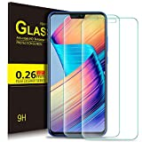Honor 8X Schutzfolie, KuGi 9H Panzerglas Hartglas Glas Display Schutzfolie [Blasenfrei] [HD Ultra] [Anti-Kratzer] Displayschutzfolie Displayschutz Screen Protector Für Honor 8X smartphone. Klar [2 PACK]