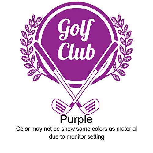 Zaosan Wandtattoos Vinyl Aufkleber Sport Golf Club Muster Blatt Wohnkultur