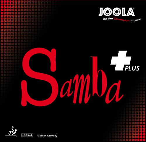 JOOLA Samba Plus Tischtennis Gummi, 70042, rot, Maximum