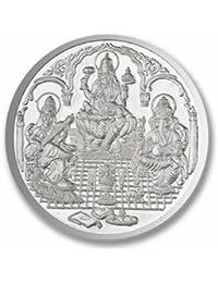 Ananth BIS Hallmarked 999 Silver Purity Coin Ganesha + Lakshmi + Saraswati