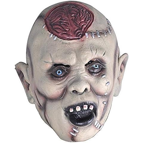 Látex de miedo Horror diablo explosión cerebral Super máscara para Halloween fiesta Cosplay carnaval