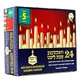 Ner shava blanco Taper Candles Burn 5horas juego de 24