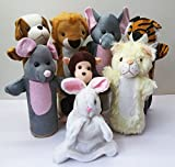 My First Animals (set of 8) - baby birthday gift for 1 year boy girl baby or 2 year old girl boy or 3 year old boy girl, Kids Educational toys Learning toddlers Soft toys Puppets