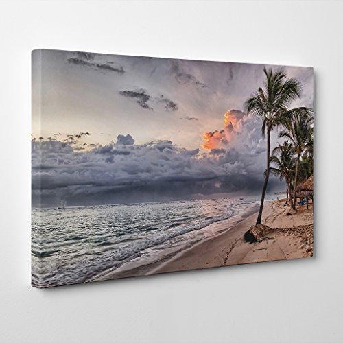 BIG Box Art Arty Pie Seascape Dominican Republic Beach Tropical Print Canvas, Multi-Colour, 20 x 14-Inch (Print Giclee Print Tropical)
