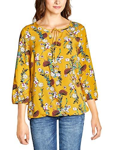CECIL Damen 341579 Bluse, Mehrfarbig (Ceylon Yellow 31892), XX-Large (Herstellergröße:XXL)