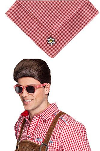 Panelize® SET - Andreas, Brille mit Halstuch rot kariert