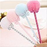 Badalink 4 x Kugelschreiber Schneider Gelschreiber mit Bowknot in einer Box Blau 26 x0.8cm -Rosa+Blau+Roserot+Weiß