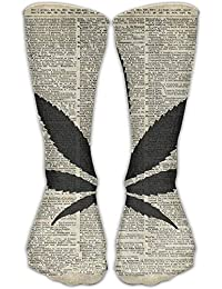 guolinadeou Men Women Cannabis Plant Dictionary Art Cotton Crew Athletic Sock Casual Socks