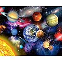 Artshdow Earth Space Diy Painting By Numbers Modern Wall Art Picture Coloring By Numbers Unique Gift Paint By Numbers For Home