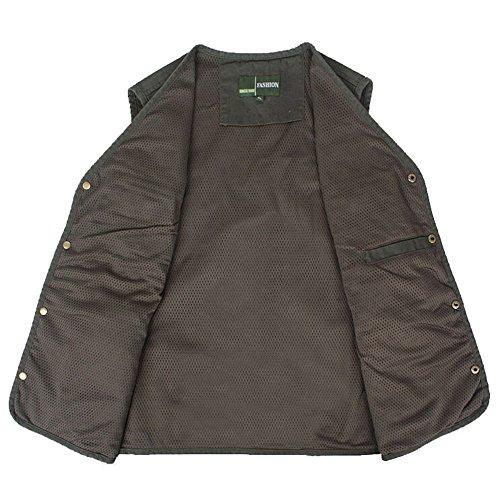Zicac - Manteau sans manche - Cape - Homme vert militaire