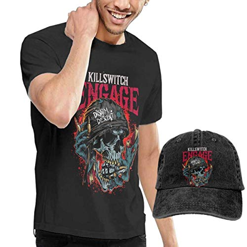 2bc53b10170e ytuytiutfi Killswitch Engage de los Hombres Camiseta & Hat Cotton Camiseta  & Denim Ninguno (Baseball Hat)