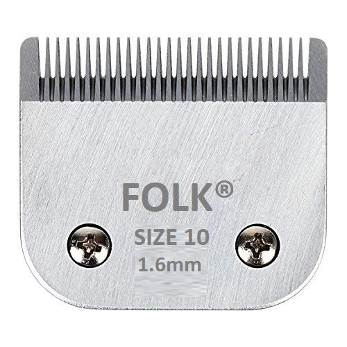 Folk Testina Lame Intercambiabile Serie A5 da 1,6 mm 28 Punte Numero # 10, Wahl, Andis, aesculap, Moser, Oster, Liveryman, GTS