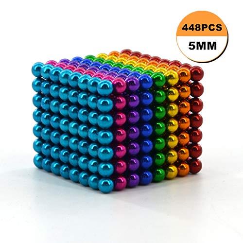 Diámetro 5 mm Bolas de metal pequeñas creativas Cubo Escritorio Juguete de descompresión para el tiempo libre Viajes Entretenimiento Alivio del estrés y desarrollo de inteligencia para niños(448PCS)