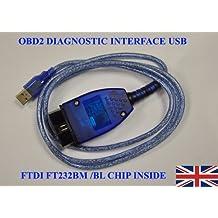 Câble de Diagnostic USB OBD2 OBD-II VAG pour KKL409.1–COM 409.1 pour Audi, VW, Seat et Skoda