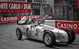 Oldtimer Racing - Monte Carlo Wandbild Leinwand Oldtimer Racing Monaco, Alu-Dibond + Poster:Alu-Dibond, Maße:120x80 cm