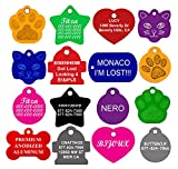 CNATTAGS Dog ID Tags Personalized   Many Shapes to Choose From  8 Color