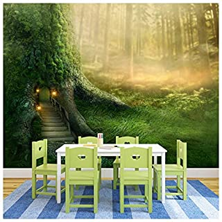 azutura Magical Tree House Wall Mural Fantasy Forest Photo Wallpaper Girls Bedroom Decor available in 8 Sizes Medium Digital