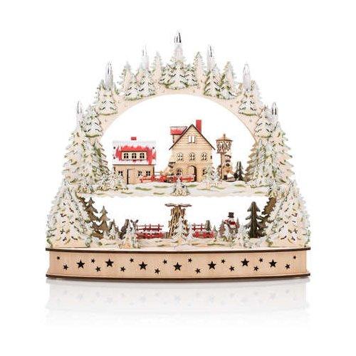 Weihnachtsdekoration Handwerk Holz-Scheiben